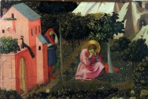 Conversione di Sant'Agostino in un dipinto di Frate Angelico
