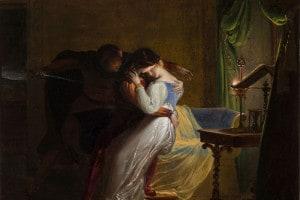 Paolo e Francesca in un dipinto del Musée de la Vie romantique, Parigi