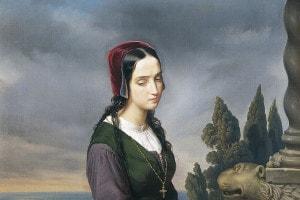 Pia de Tolomei dipinta da Eliseo Sala nel 1846