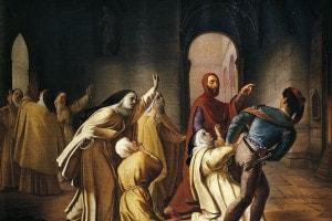 Piccarda Donati in un dipinto di Lorenzo Toncini