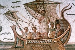Ulisse e i compagni sulla nave