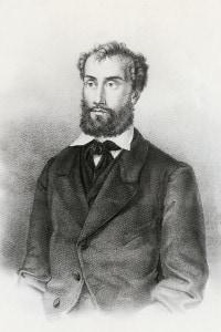 Emilio Bandiera  (Venezia, 1819-Vallone di Romito, 1844), patriota italiano. Litografia
