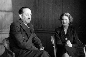 Ignazio Silone e sua moglie Dariana a Londra dove Silone rappresenta il Partito Socialista Italiano, 23 febbraio 1946