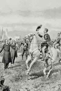 Vincenzo Gioberti comunica il voto di Brescia a sostegno dell'annessione al re Carlo Alberto, 1848