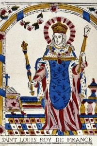 Luigi IX re di Francia, canonizzato da papa Bonifacio VIII nel 1297
