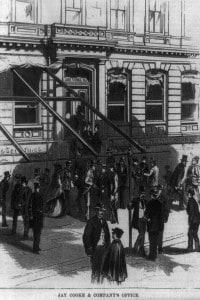 Il fallimento della banca di Jay Cooke & Company. Panico a Wall Street, 1873