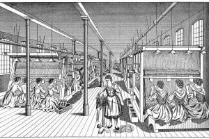 Le lavoratrici in una fabbrica di tappeti, 1895