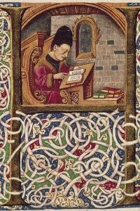 Miniatura da un manoscritto di Giovanni Pontano, Italia XV secolo