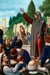 Cola di Rienzo Tribuno di Roma al Campidoglio, 1347
