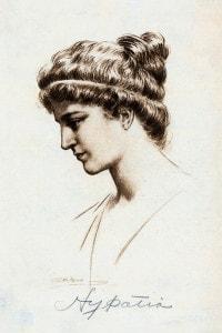 Ritratto di Ipazia d'Alessandria (375-415 d.C.): matematica e filosofa greca