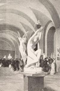 La statua di Ipazia realizzata da Odoardo Tabacchi