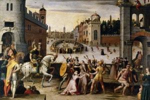 Arresto ed esecuzione di Tommaso Moro, cancelliere di Enrico VIII d'Inghilterra. Artista: Antoine Canon