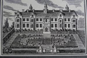 Incisione raffigurante Beaufort House, la residenza di Tommaso Moro