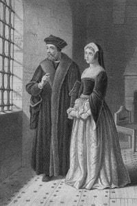 Tommaso Moro, in prigione, e sua figlia Margaret Roper