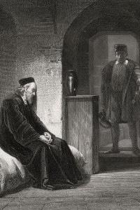 Tommaso Moro in prigione, nella Torre di Londra, prima del suo processo ed esecuzione per tradimento, 1535 circa