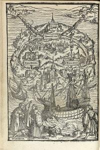 Utopia di Tommaso Moro, 1518. Collezione privata. Artista: Holbein, Ambrosius