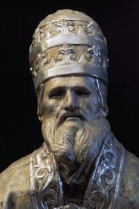 Busto di Papa Pio V, nato Antonio Ghislieri (1504-1572). Museo Colle del Duomo, Viterbo