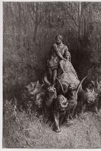 Canto 32 del Purgatorio di Dante: il gigante e la meretrice sul carro