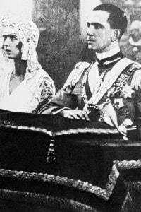 Matrimonio di Maria José del Belgio e Umberto II di Savoia al Quirinale. Roma, 8 gennaio 1930