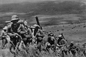La marcia dell'esercito italiano in Etiopia, 3 ottobre 1935
