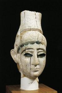 Civilta fenicia, XIII secolo a.C. Testa di principe in avorio. Dal Palazzo Reale di Ugarit