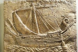 Rilievo raffigurante una nave mercantile fenicia