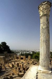 Rovine di Cartagine e colonna Byrsa Hill, Tunisia