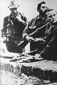 Partigiani romani durante la resistenza