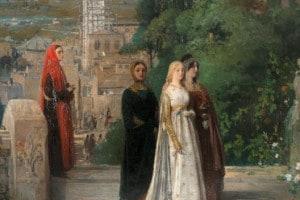Dante e Beatrice, immagine di Induno Gerolamo