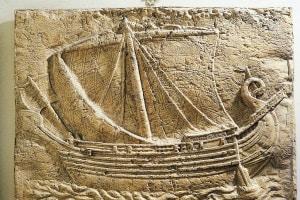 Bassorilievo fenicio, IV secolo a.C.