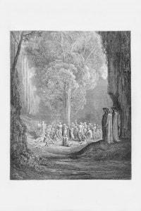 Canto XXIV Purgatorio, l'albero dei golosi