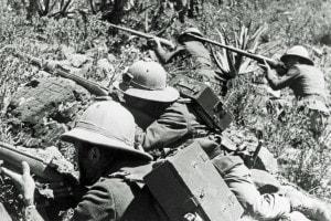 Seconda guerra italo-etiopica (1935-1936). La guerra fu combattuta tra le forze armate del Regno d'Italia e le forze armate dell'Impero d'Etiopia
