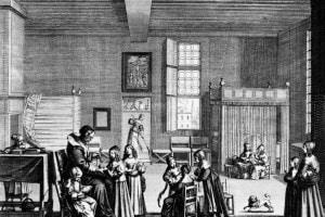 L'insegnante a scuola, 1638