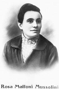 Rosa Maltroni, la madre del dittatore fascista italiano Benito Mussolini