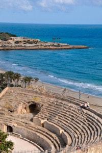 Tarragona. Spagna, Catalogna: antico anfiteatro romano risalente al II secolo