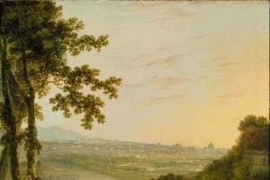 Veduta di Roma da Villa Madama. Esempio di pittura Romantica