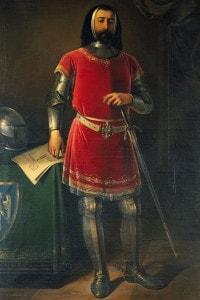 Ritratto di Azzo VIII d'Este, marchese di Ferrara, Modena e Reggio. Dipinto di Giuseppe Zattera