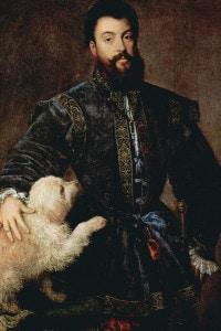 Ritratto di Federico II Gonzaga, duca di Mantova (1500-1540), 1525. Tiziano (1488-1576). Collezione del Museo del Prado, Madrid
