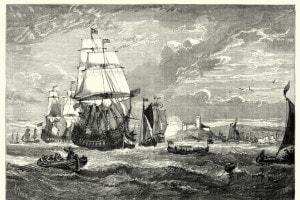 Prima flotta della Compagnia delle Indie Orientali in partenza da Woolwich, 1601
