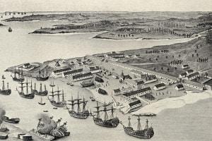 Il porto marittimo di Lorient, Francia