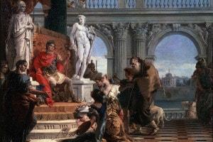 Mecenate presenta ad Augusto le arti liberali, 1743. Giambattista Tiepolo. Collezione dell'Ermitage di Stato, San Pietroburgo