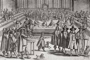 Oliver Cromwell scioglie il parlamento nel 1653