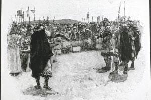 Arcivescovi e vescovi al Grande Consiglio nazionale, il Witenagemot anglosassone