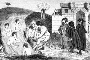 Pellegrini, la balneazione nel fiume Giordano