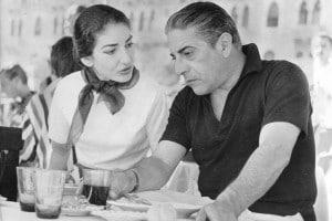 Maria Callas e Aristotele Onassis a Venezia nel 1957