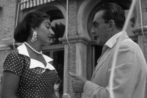 Maria Callas con Luchino Visconti, Venezia 1956