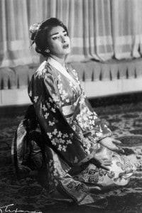Maria Callas in Madama Butterfly di Puccini