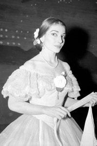 Maria Callas in costume per il ruolo principale de La traviata. Royal Opera House, Covent Garden