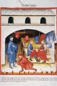 La sartoria nel medioevo
