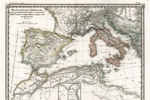 Mappa del Mediterraneo ai tempi delle guerre puniche